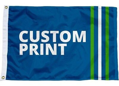 Custom Printed Personalised Flag / Banner - Many Sizes! Any Size - Any Design!