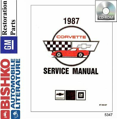 Bishko OEM Digital Repair Maintenance Shop Manual CD for Chevrolet Corvette 1999