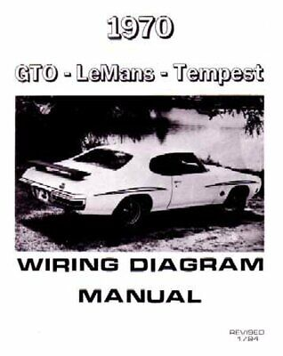 OEM Repair Maintenance Wiring Schematics Bound Pontiac Gto, Lemans, Tempest 1970