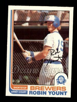 1982 O-Pee-Chee #237 Robin Yount Brewers NM