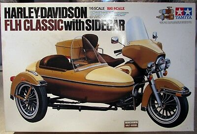 HARLEY DAVIDSON FLH Classic with Sidecar Model Tamiya 1:6 Scale Kit BS0618