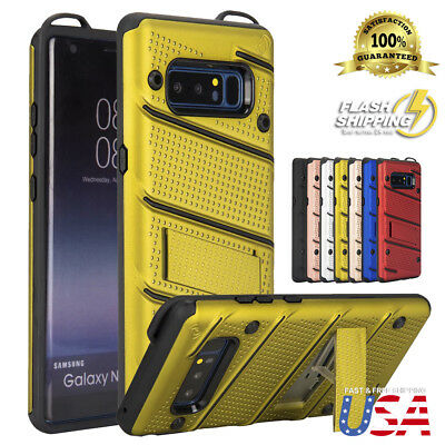 Fits Galaxy Note 9/8 Military Grade Kickstand Shockproof Rugged Armor Case Cover