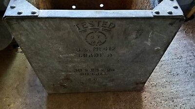 Vintage Galvanised Riveted Water Tank