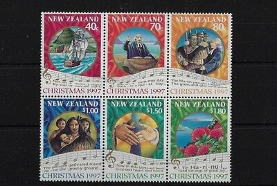 Nz Sg2097/2102, 1997 Christmas Block Of 6 Mnh