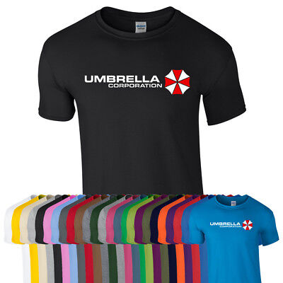 UMBRELLA CORPORATION Corp Resident Evil Zombie Gift Game Film Tshirt Tee Top