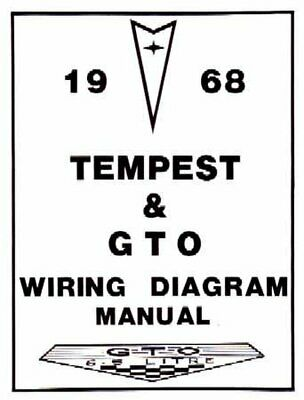 OEM Repair Maintenance Wiring Schematics Bound Pontiac Gto, Lemans, Tempest 1968