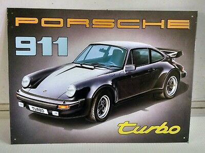 PORSCHE 911 Turbo w LOGO Vintage metal steel Sign Beautiful sign! ONLY ONE!