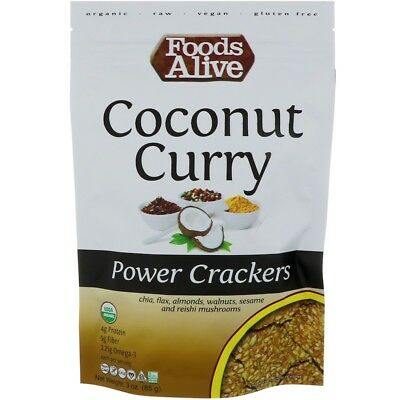 Foods Alive Power Crackers Coconut Curry 3 oz (85 g)
