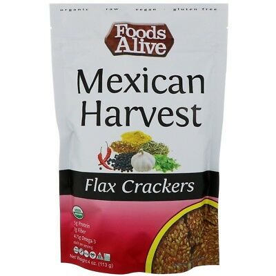 Foods Alive Flax Crackers Mexican Harvest 4 oz (113 g)