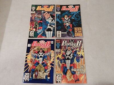The Punisher 2099 #1,2,5,8 Lot Marvel Modern Age Comic Book Lot VF/NM