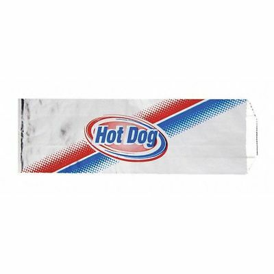 "Foil Printed Hot Dog Bags, 3 1/2 x 1 1/2 x 12"", PK1000 ZORO SELECT E-7140"