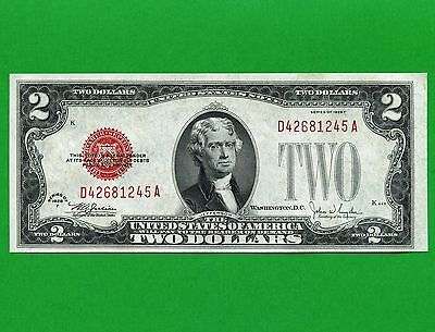 1928 United States 2 Dollar Uncirculated Bank Note S/N D42681245A
