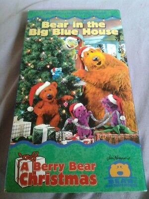 bear in the big blue house a berry bear christmas vhs 2000 - Bear Inthe Big Blue House A Berry Bear Christmas