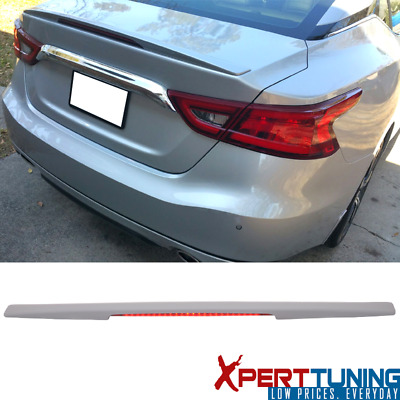 For 16-17 Nissan Maxima Sedan Primer ABS Trunk Spoiler Wing with 3rd Brake Lamp