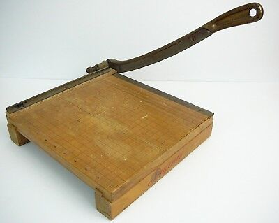 """Vintage Ingento 10"""" Guillotine Paper Cutter Ideal School Supply Company"""