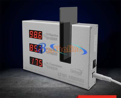 LS101 Lingshang Digital UV/IR/VL Rejection Meter Solar Film Transmission Meter