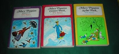 P L Travers~Mary Poppins~Lot of 3 TPB~ Mary Poppins;MP Comes Back;MP In the Park