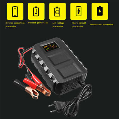 Intelligent 12V 20A Automobile  Lead Acid Battery Charger Car Motorcycle US / EU