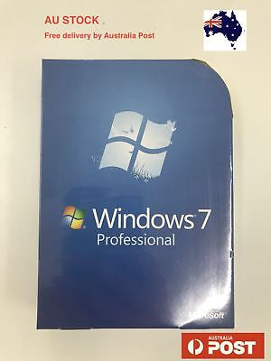 Windows 7 Professional 32/64 bit Full Version DVD + Product Key for 1 PC
