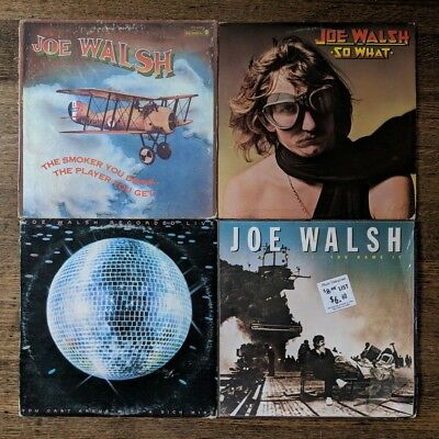 Joe Walsh Lot Of 4 LP's: The Smoker You Drink + So What + You Bought It + Live