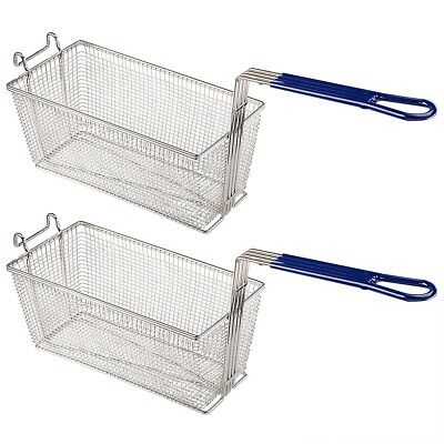 2pcs Deep Fryer Basket Commercial Kitchen Chip Fish Food Thick Tube INCD VAT