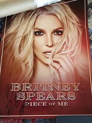 Britney Spears Signed Piece Of Me Tour Poster Autographed VIP