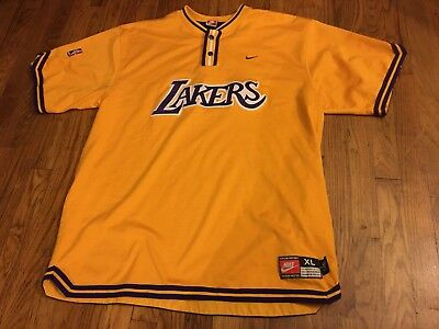 efb55a65a8b Vintage Nike Authentic Los Angeles Lakers Warm Up Shooting Shirt Jersey XL