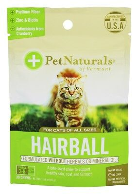 Pet Naturals of Vermont - Hairball Treats For Cats of All Sizes - 30 Chew(s)