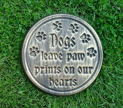 Dog Large Pet Memorial/headstone/stone/grave marker/memorial paw  round
