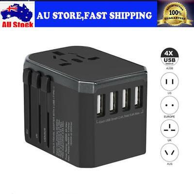 All in One Universal International Plug Adapter Travel Power Adapter 4 USB Ports