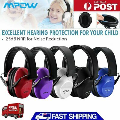 Mpow NEW Baby Ear Muffs Soft Cup Safety Kids Hearing Protection Noise Cancelling