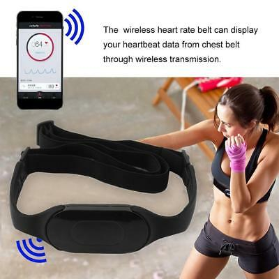 Bluetooth 4.0 Black Wireless Heart Rate Monitor Chest Strap Elastic Smart