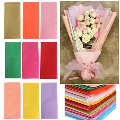10x Origami Tissue Paper Flower Wrapping Paper Gift Packaging Craft Paper Rolls
