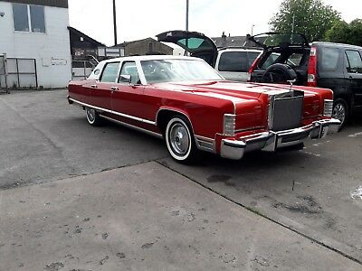 Lincoln 1977 V12 27000 Miles! One Owner Last 40 Years!   Car With History Behind