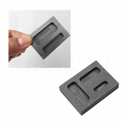 1X Graphite Casting Melting Ingot Mold Crucible Refining Gold Silver Tool Groove