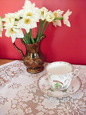 Lovely Vintage Tuscan Plant  bone china Bird of Paradise duo cup & saucer
