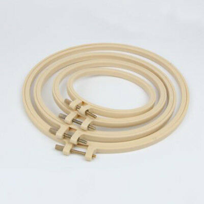 Bamboo Hoop Cross Stitch Embroidery DIY Ring Frame Round Sewing Craft Tool New