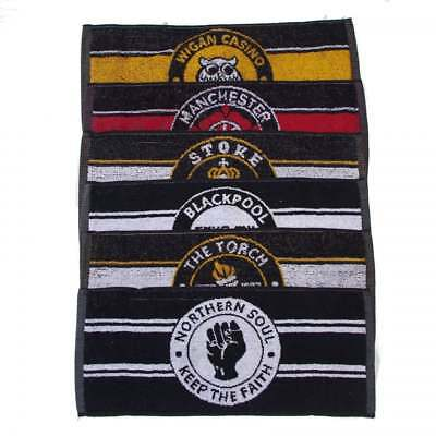 Warrior Vintage Set of 6 Northern Soul Themed Bar Limited Edition Bar Towels
