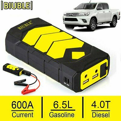 BIUBLE 600A Car Jump Starter Battery Power Bank USB Charger Rescue Pack Booster