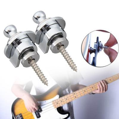 2x Schaller Straplocks Electric Acoustic Guitar Bass Strap Locks Button Hot