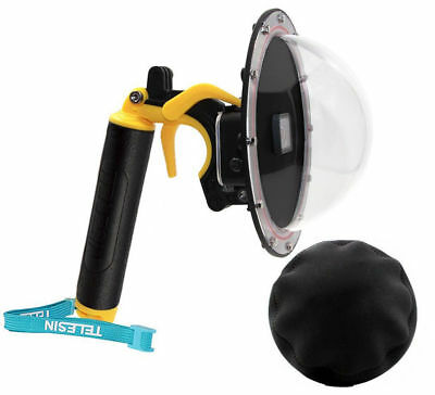 TELESIN Photography Underwater Diving Camera Lens Cover Dome Port for GoPro Hero