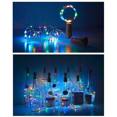 20LED Cork Shaped Wire Night Light String Fairy Light Wine Bottle Lamp Christmas