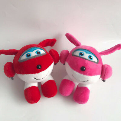 """18cm/7"""" Super Wings Jett Plush Toys Super Wings Aircraft Robot Toys Gift Dolls"""