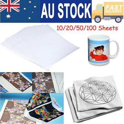 10/20/50/100 Sheets A4 Sublimation Iron Heat Transfer Paper For The Shirt Hats
