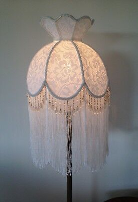 Lovely White Coloured New  Vintage Style Shade Hand Crafted For  Floor Lamp