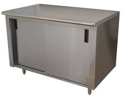 Enclosed Base Work Table,35x48x30 In ADVANCE TABCO CB-SS-304M