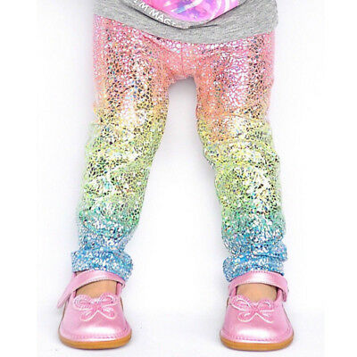 Girl Pants Rainbow Colorful Gradient Unicorn sequin Leggings Toddler baby kids