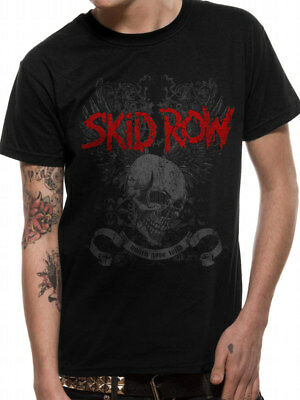 Black Skid Row Youth Gone Wild Logo Mens Officially Licensed T-Shirt Top L