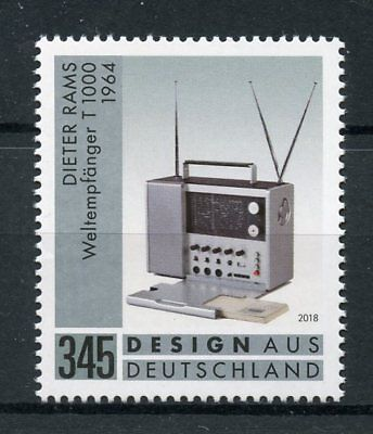 Germany 2018 MNH World Radio Receiver Dieter Rams 1v Set Invention Design Stamps