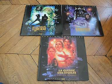 Lot Star Wars Laserdisc LD VF PAL THX Ed. Speciale Lucas, Ford